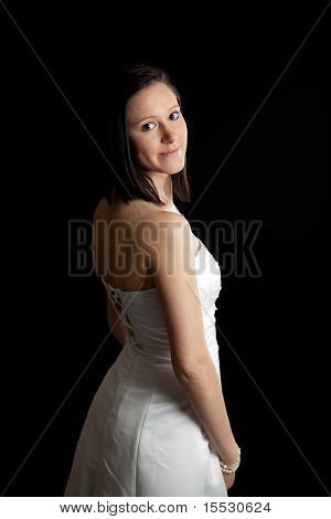 Young Woman Dress Back