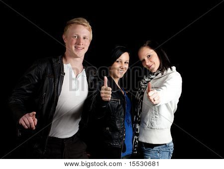 Young Group Thumbs Up