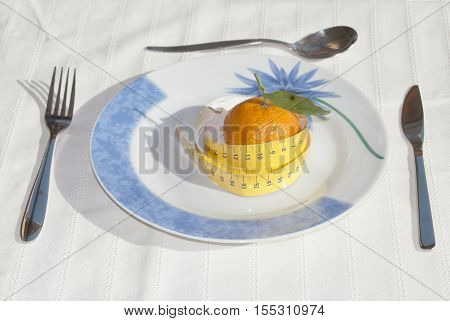concept of diet and healthy eating at table