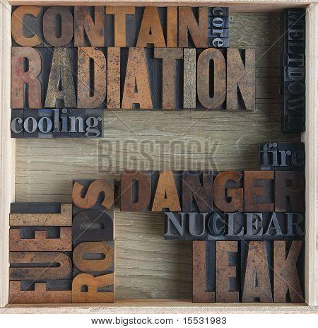 radiation danger words