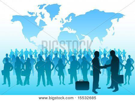 Una multitud de gente de negocios internacionales