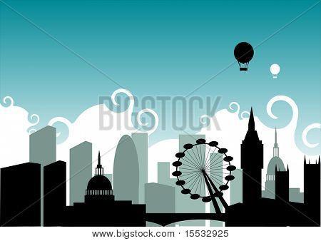 Eine Illustration auf der Grundlage der City of London.