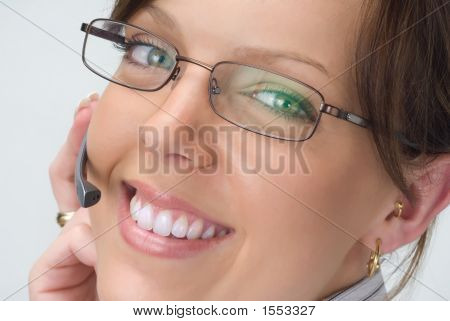 Smiling Happy Receptionist