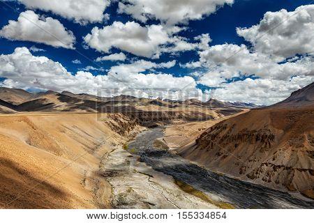 Himalayan landscape. More plains, Ladakh, India