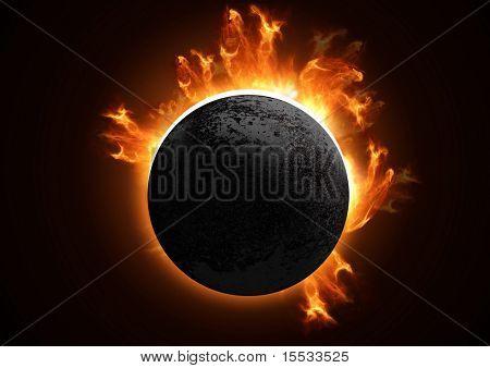 Ein 3D Total Eclipse im Detail.
