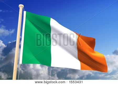 Ireland Flag (Clipping Path)