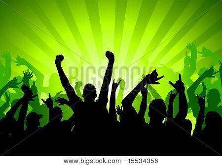 Silhouette of an Audience at a concert