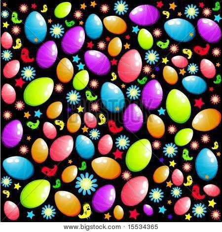 Ostern Elemente Hintergrund mit Ostereiern und Küken.