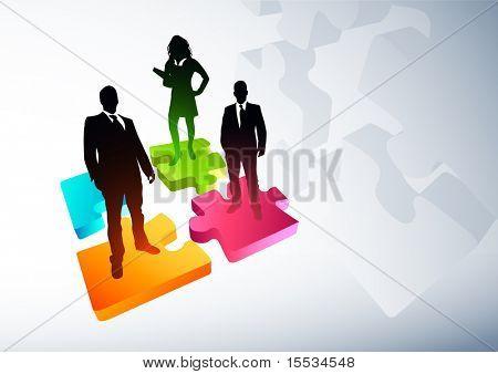 Nuevas estrategias de negocio. Ilustración del vector.