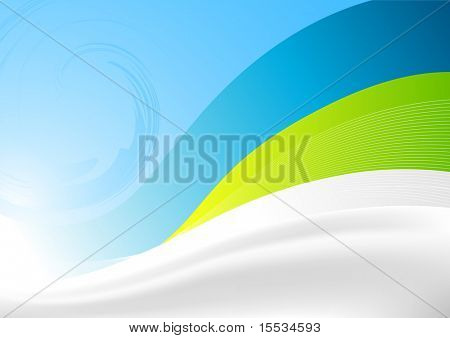 Vector illustration. Flowing waves background.