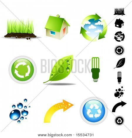 Vector illustration Environment Icon Set.