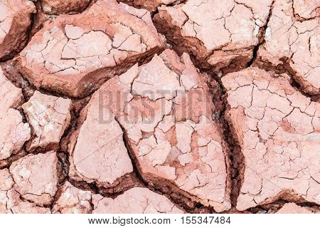 Desert dry and cracked ground in nature
