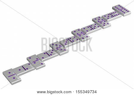 Concept: Career ladder isolated on white background. 3D rendering.