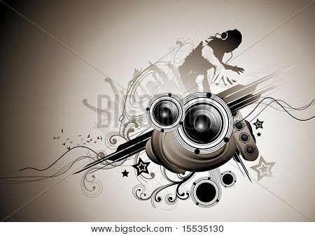 Raw beats... Musical vector elements.