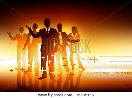 Um grupo de pessoas de negócio profissional. Ilustração vetorial.