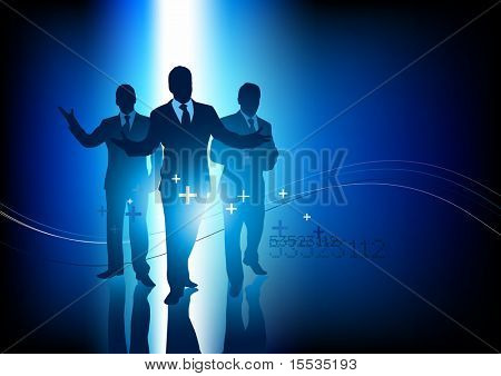 Um pequeno grupo de pessoas de negócio profissional. Ilustração vetorial.