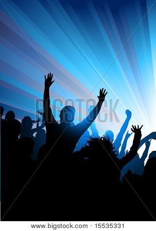 Party crowd of people! Vector illustration