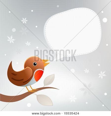 A Christmas Robin Bird .