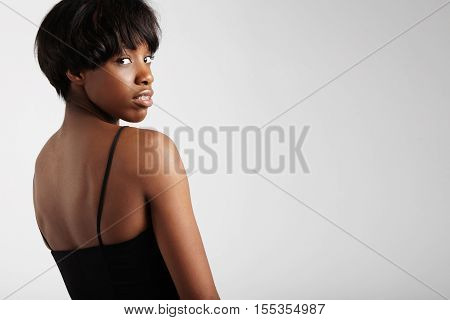 Black Woman With Short Haircut Wears Braces