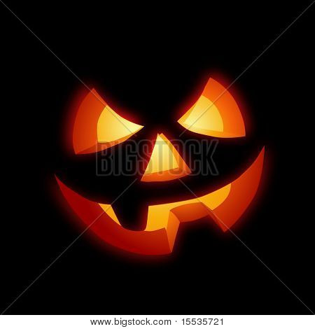 A grinning Jack O Lantern vector illustration.