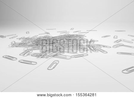 Many Paperclips On Desk