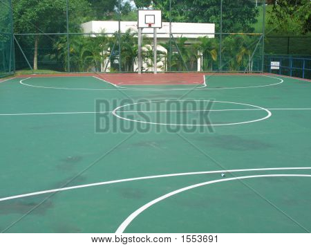 Empty Basketball Court