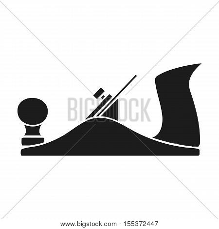Jack plane icon in black style isolated on white background. Sawmill and timber symbol vector illustration.