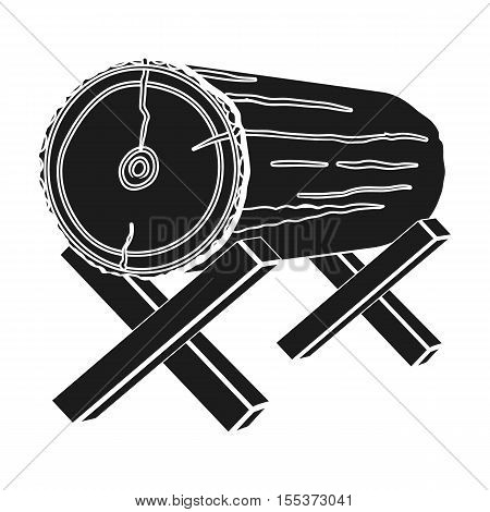 Goats for sawing icon in black style isolated on white background. Sawmill and timber symbol vector illustration.