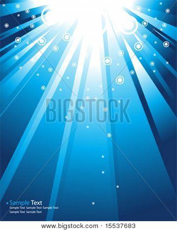 vector blue rays