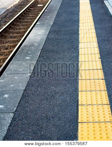 Tactile Paving For Blind Person.