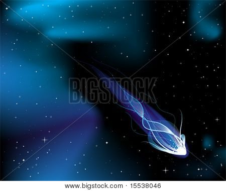 vector illustration of a comet