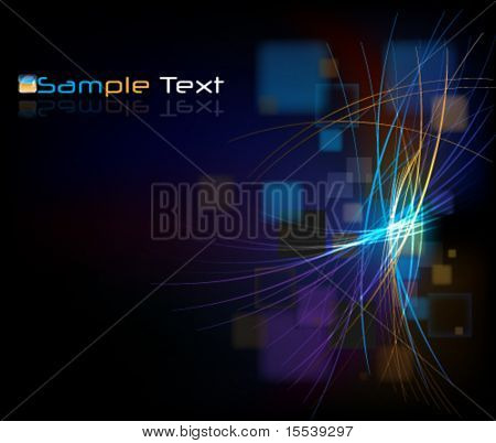 eps10 glowing abstract background