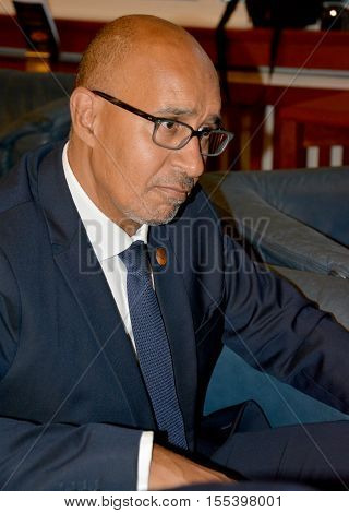 Bled, Slovenia. September 5th 2016. Minister of state for European affairs of France Harlem Desir during the meeting