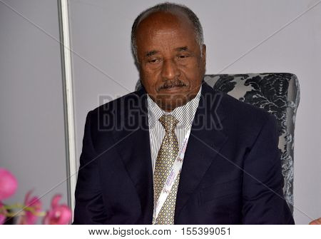 New York, United States. September 17th 2016. Osman Mohammed Saleh Minister for Foreign Affairs of Eritrea during the meeting