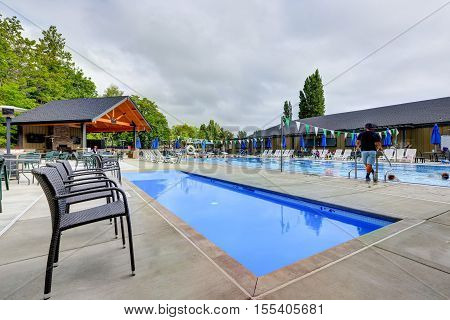 Public swimming pool tacoma lawn image photo bigstock - Public swimming pools in lubbock tx ...