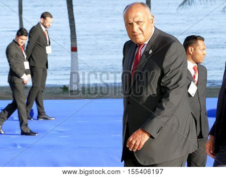 Porlamar Venezuela. September 17th 2016 - Minister of Foreign Affairs of Egypt Sameh Hassan Shoukry at the 17th Summit of the Non-Aligned Movement in Porlamar Margarita Island Venezuela on September 17 2016.