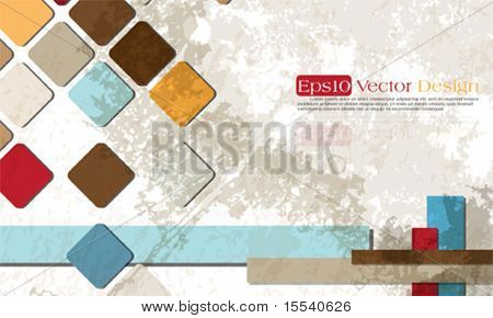 Corporate vintage background design, eps10 vector