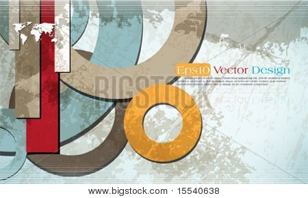 vintage corporate design in eps10 vector format