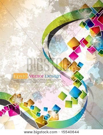 multicolor cube design in eps10 vector format