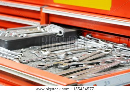 The image of tools in a tool box