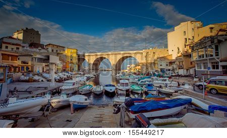 Boats on the shore, Marseille, South of France