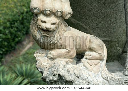 stone chinese lion in Nanjing
