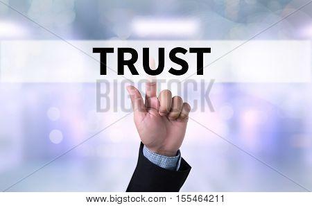 TRUST Business Concept and TRUST FUND achievement, announcement,
