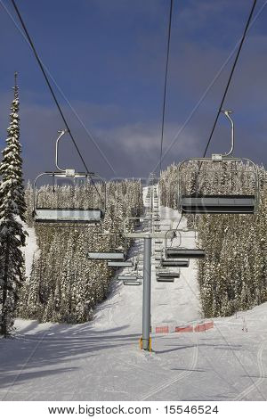 Ski Lift Line Portrait