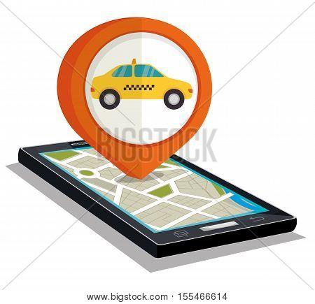 taxi service public smartphone vector illustration eps 10