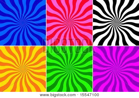 set of different colour wave vector background
