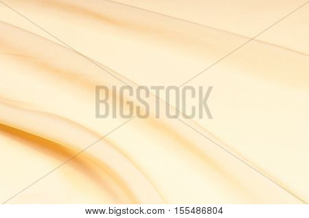 Satin Fabric Texture. Beige Color.