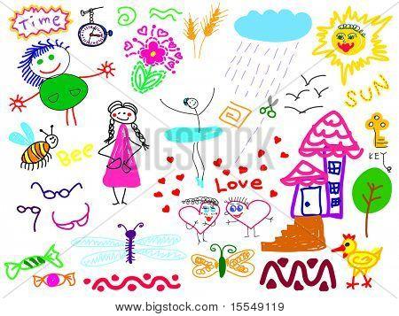hand-drawn set of doodles Vector. Visit my portfolio for big collection of doodles