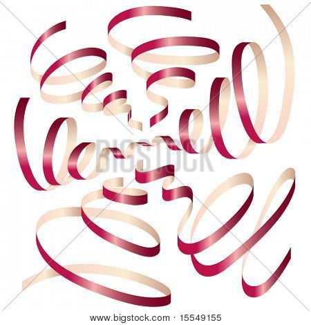 party ribbon vector illustration. Visit my portfolio for big collection of ribbons