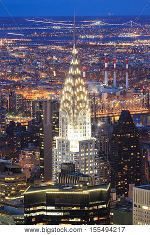 NEW YORK - APRIL 9: Chrysler building facade pictured on on April 9 2014 in New York was the world's tallest building before it was surpassed by the Empire State Building in 1931.